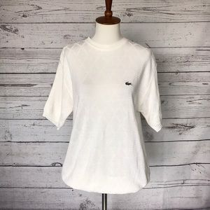Lacoste Cream SS Sweater Size Large